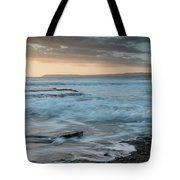 Beautiful Dramatic Sunset Over A Rocky Coast Tote Bag