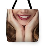 Beautiful Young Smiling Woman Tote Bag