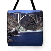 Bixby Creek Aka Rainbow Bridge Bridge Big Sur Photo  Tote Bag