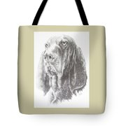 Black And Tan Coonhound Tote Bag by Barbara Keith