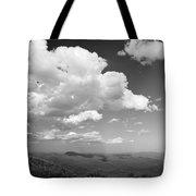 Black And White Blue Ridge Mountains Tote Bag