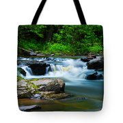 Black Slate Falls Tote Bag