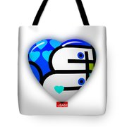 Blue Heart Tote Bag