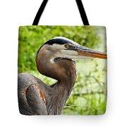 Blue Heron Heads Up Tote Bag
