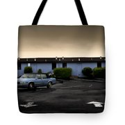 Blue Motel Tote Bag