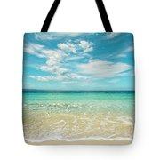 Pristine Blue Paradise Tote Bag