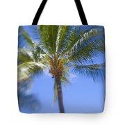 Blurry Palms Tote Bag