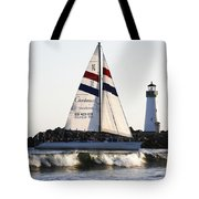 2 Boats Approach Tote Bag