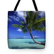 Bora Bora, Palm Tree Tote Bag