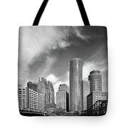 Boston Skyline 1980s Tote Bag