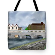 Bridge In Old Galway Ireland Tote Bag