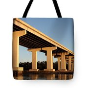 Bridge Pilings Tote Bag