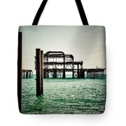 Brighton West Pier Tote Bag