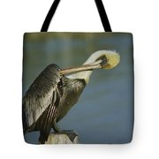 Brown Pelican At The Dock Of The Bay Tote Bag