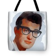 Buddy Holly, Music Legend Tote Bag