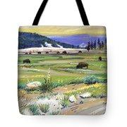 Buffaloes In Yellowstone Tote Bag