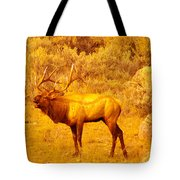 Bull Elk Calling Out Tote Bag