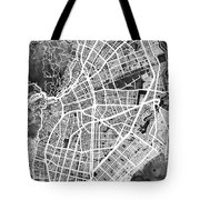 Cali Colombia City Map Tote Bag