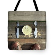 Canned Meal At A Camping Trip Tote Bag