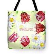 Card With Spring Flowers Tote Bag