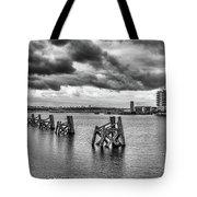 Cardiff Bay Panorama Mono Tote Bag