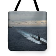 Carrier Strike Group Formation Of Ships Tote Bag