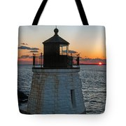 Castle Hill Light Newport Rhode Island Tote Bag