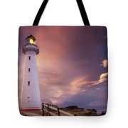 Castle Point Lighthouse Tote Bag