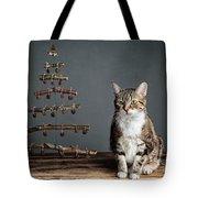 Cat Christmas Tote Bag