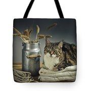 Cat Portrait Tote Bag