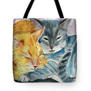 Kitty And Kat Tote Bag