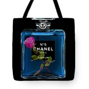 Chanel With Rose Tote Bag