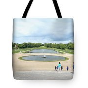 Chantilly Castle Garden In France Tote Bag