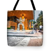 Charlotte North Carolina Street Scenes Early Morning Tote Bag