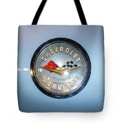Chevrolet Corvette Badge Tote Bag