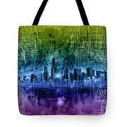 Chicago Skyline Abstract Tote Bag