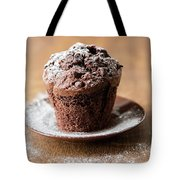 Chocolate Muffin With Powdered Sugar Tote Bag