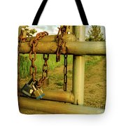 Padlocks And Chains Tote Bag