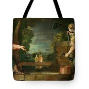 Christ And The Samaritan Woman At The Well Tote Bag