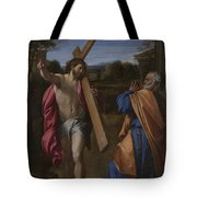 Christ Appearing To Saint Peter On The Appian Way Tote Bag
