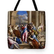 Christ Driving The Money Changers From The Temple Tote Bag