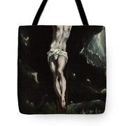 Christ On The Cross Tote Bag