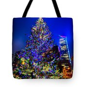 Christmas Tree Near Panther Stadium In Charlotte North Carolina Tote Bag