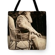 Claude Monet In His Garden Tote Bag