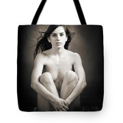 Claudia Nude Fine Art Print In Sensual Sexy Black And White Or S Tote Bag