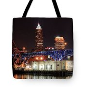 Cleveland Panorama Tote Bag
