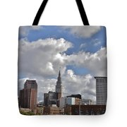 Cleveland Skyline From The Flats River District Tote Bag