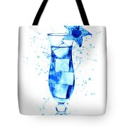 Cocktail Drinks Glass Watercolor Tote Bag
