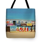 Cocoa Beach/cape Canaveral Pier Tote Bag