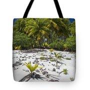 Coconut Palms On A Polynesian Beach Tote Bag
